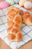 Sweet braided Easter bread Stock Photography