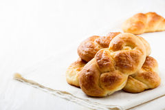 Sweet braided yeast bread Royalty Free Stock Photos