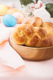 Sweet braided yeast bread Stock Images