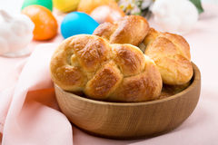 Sweet braided yeast bread Royalty Free Stock Photography