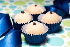 Beijinho a brazilian sweet. Sweet Brazilian greatly appreciated in children's parties Royalty Free Stock Photo