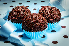 Brigadeiro a brazilian sweet Stock Photography