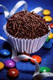 Brigadeiro a brazilian sweet. Sweet Brazilian greatly appreciated in children's parties Royalty Free Stock Image