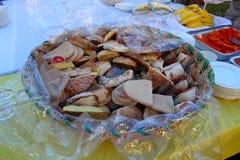 Sweet bread basket Stock Photography