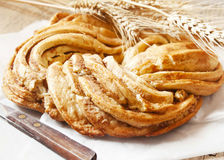 Sweet Bread Braided, Delicious Pastry Product Stock Images