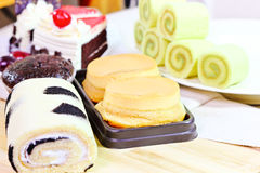 Sweet bread and cake Stock Images