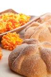 Sweet bread called (Pan de Muerto) Stock Photo
