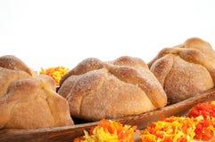 Sweet bread called (Pan de Muerto) Stock Photos
