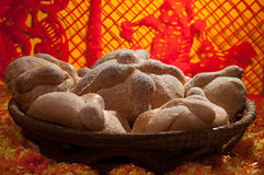 Sweet bread called (Pan de Muerto) Stock Image