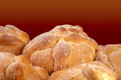 Sweet bread called (Pan de Muerto) Royalty Free Stock Photo