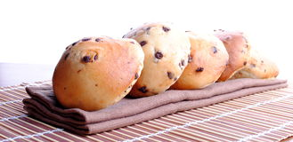 Sweet bread with chocolate drops Royalty Free Stock Image