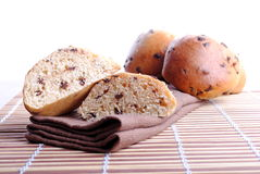 Sweet bread with chocolate drops Royalty Free Stock Photography