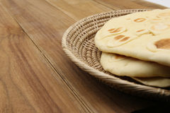 Sweet bread on craft basket Stock Photos