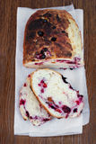 Sweet bread with cranberry, blackberry, blueberry Royalty Free Stock Photography