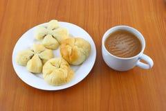 Sweet bread and cream tea Royalty Free Stock Photo