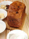 Sweet bread  with raisins and almonds,flour, butter,egg, milk Stock Images