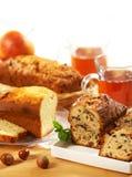 Sweet bread with raisins Stock Photos