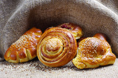 Sweet bread roll Royalty Free Stock Photos