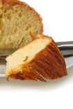 Sweet bread sliced closeup Stock Photos