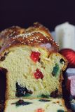 Sweet bread with turkish delight Stock Image