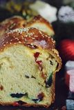 Sweet bread with turkish delight Stock Images