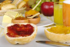 Sweet Breakfast with Jam Stock Photos