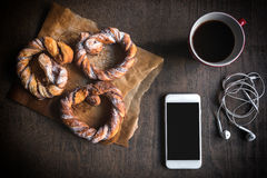 Sweet breakfast served Stock Photography