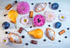 Sweet breakfast or snack. Royalty Free Stock Images