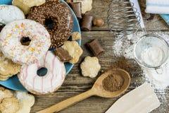 Sweet breakfast on the table stock photo