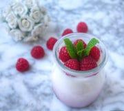 Sweet breakfast, yoghurt with wild berries Royalty Free Stock Photography
