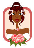 Sweet Bride in Pink frame Stock Photo