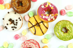 Sweet bright donuts Royalty Free Stock Images