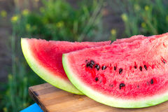 Sweet bright rich red watermelon Stock Image