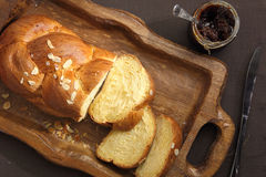 Sweet brioche bread Stock Photo