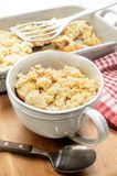 Sweet british apple crumble in a cup Stock Photo