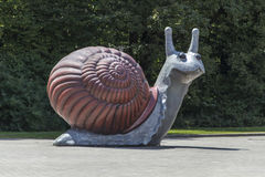 Sweet Brown Snail sculpture in Munich, 2015 Stock Images
