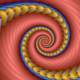 Sweet bubblegum spiral. Abstract fractal image resembling a sweet bubblegum spiral stock illustration