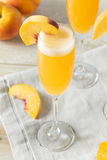 Sweet Bubbly Peach Bellini Mimosa Royalty Free Stock Images