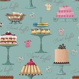 Sweet buffet background royalty free stock image