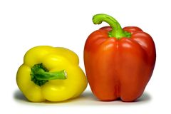 Sweet bulgarian pepper (with clipping path). Stock Image