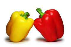 The sweet bulgarian pepper ( clipping path ). Stock Images