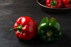Sweet Bulgarian pepper on dark background Stock Photography