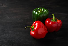 Sweet Bulgarian pepper on dark background Stock Image