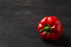 Sweet Bulgarian pepper on dark background Royalty Free Stock Photo