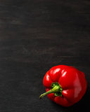 Sweet Bulgarian pepper on dark background. Sweet red Bulgarian pepper on dark background. Space for text Stock Images
