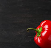 Sweet Bulgarian pepper on dark background Royalty Free Stock Image
