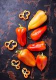 Sweet  bulgarian pepper on dark rusty background Royalty Free Stock Image
