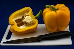 Sweet Bulgarian pepper for salad Royalty Free Stock Images