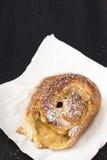 Sweet bun with caramel Royalty Free Stock Image