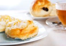 Sweet bun with coconut stuffed for tea break Stock Photo